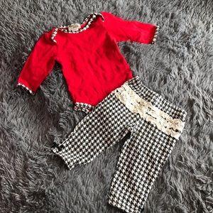 CHICK PEA matching set with ruffle bum pants